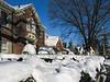 Snowy houses in Oak Hill