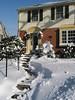 Grandma José's house in the snow