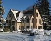 Snowy house in Oak Hill