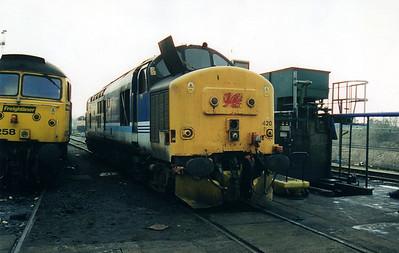 37420 at Crewe Diesel Depot  12/01/01.