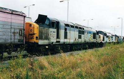 37359 at Thornaby Bull Ring Sidings 02/09/00.