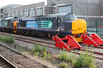 DRS 37402 stabled at York in the Parcel sidings  06/07/13.