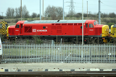 DB Liveried 37419 at Toton   26/03/11.