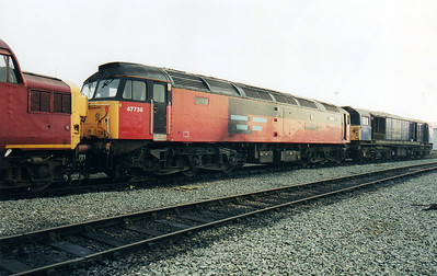 47736 'Cambridge Traction & Rolling Stock Depot' at Crewe Diesel Depot  12/01/01.