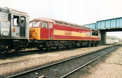 56081 at Peterborough TMD  18/03/00.