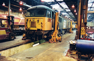 56111 inside Crewe Diesel Depot  12/01/01.
