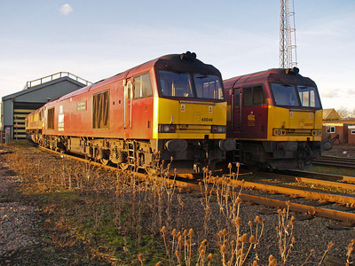 60040 'The Territorial Army Centenary' & 60009 Immingham TMD 31/01/10