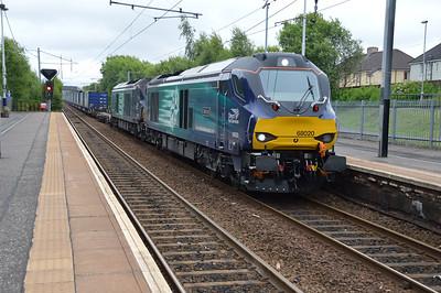 68020_68004 1404/4S43 Daventry-Mossend pass Holytown  11/07/16.