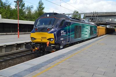 68005 'Defiant' 0933/6u76 Crewe-Mountsorrell  28/05/15.