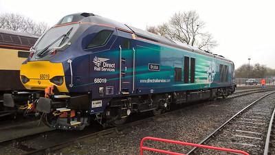 68019 'Brutus' on Gresty Bridge Depot  02/04/16.