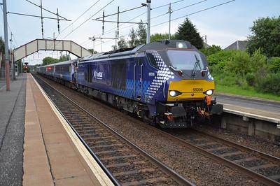 68006 2036/5z90 Edinburgh-Mossend ECS passes Holytown  16/07/15.