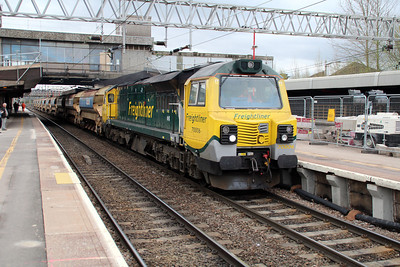 70006 1058/6y06 Willesden-Crewe passes Stafford 24/04/13..