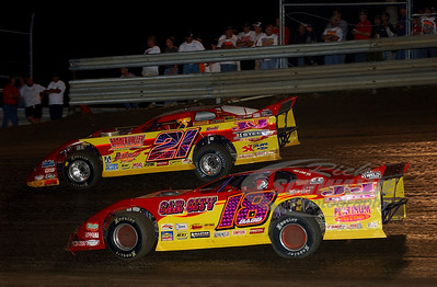 18 Shannon Babb and 21 Billy Moyer
