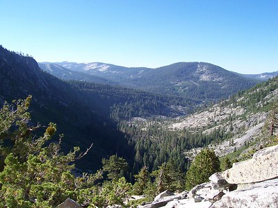 Looking south.  Tahoe at Sierra can be seen on the left.