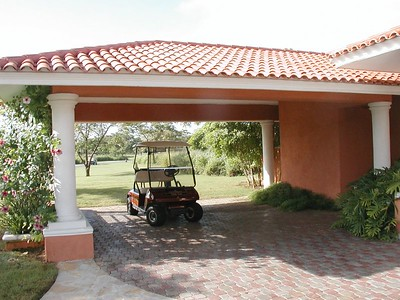 Our private driveway with golf cart included!