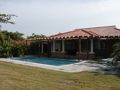 The back of our villa, notice the private pool?