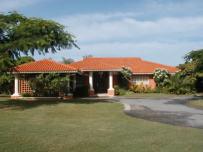 The front of our villa on hole #1 of the golf course