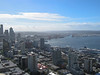 View of Seattle and harbor from Space Needle