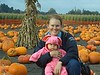 Andrea and piggy Aiden at Ardenwood Pumpkin patch