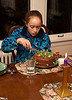 Isabel cutting birthday cake