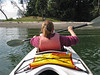 Isabel in the kayak