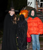 Back home, Halloween: Isabel, Benjamin, and Lily