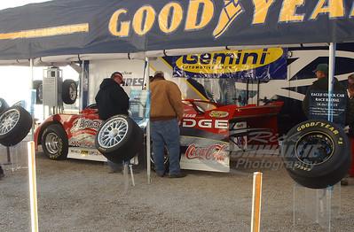 Bill Elliott's car at a Goodyear display