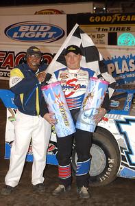 Davey Johnson and flagman Doug Clark