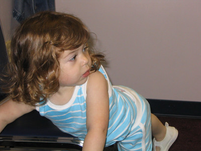 May 20-22, 2004 photos  (Hailey gets her 2-year check-up (27 1/2 lbs, 34 1/2 inches) with Dr. Hickey. Then she goes to MyGym. On Sunday she goes to Katelin's pool party.)