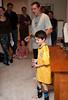 Benjamin getting soccer end-of-season trophy