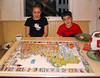 Isabel and Benjamin with New England puzzle