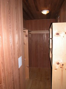 Cedar walk-in closet