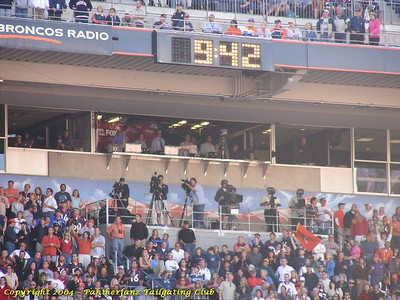 Panthers @ Broncos October 10 2004