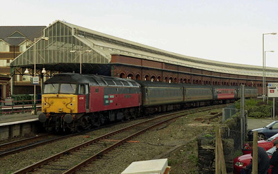 Having completed its run-round, 47749 waits to depart Holyhead with the return 1K67 1248 to Crewe (06/02/2004)