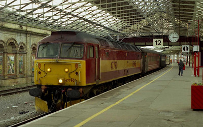 47790 is pictured agin at Crewe later that afternoon with 1D75 1527 to Holyhead (09/02/2004)