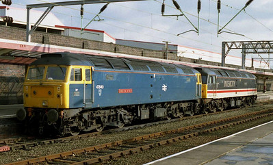 Keeping with the theme, former celebrity duo 47840 'North Star' and 47826 Springburn' were both to be found on standby duty at Crewe at the end of the week (27/02/2004)