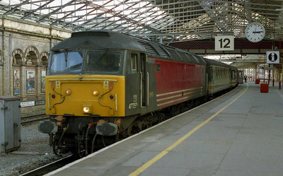47750 awaits departure from Crewe with 1D75 1530 to Holyhead (06/03/2004)