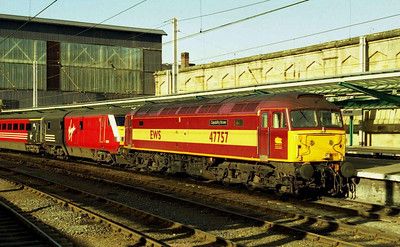 47757 'Capability Brown' awaits departure from Carlisle with the SuO 1M64 1204 Glasgow-Euston, which it had taken over for the diversionary leg to Preston via the S&C (08/02/2004)