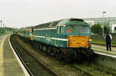 The following morning 47714 is seen here at Great Yarmouth with 5G54 1012 ecs back to Norwich. Additional loco-hauled shuttles were running in connection with Channel 4's 'Pop Beach' Music Festival at the resort, the first of which had just arrives behind