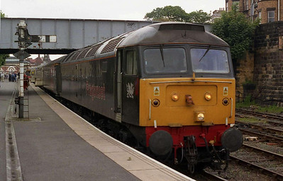 47355 'Avocet' waits to depart Scarborough with 1Z46 1735 return charter to Norwich, which it worked as far as Ipswich. A week of night shifts had finally caught up with me, and I slept through most of what was described as a 'lively' run up the ECML (05/