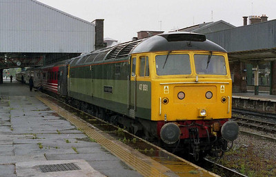 The line between Chester and Crewe was closed on Sundays for the whole of June, meaning that two rakes of Mkllls were effectively trapped on the 'Coast' on a Saturday night. Rather than sit idle at Holyhead, they were cleverly deployed on three return tri