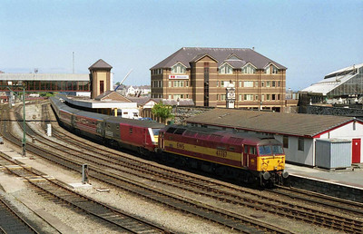 47787 'Windsor Castle' waits to depart Holyhead with the SO 1A77 1323 to Crewe (12/06/2004)
