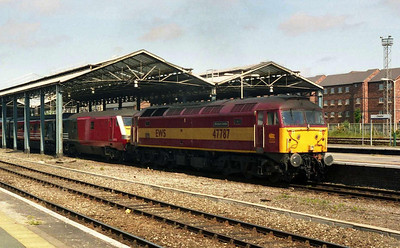 With me not being required at work until Monday evening, Sunday night B&B's at Holyhead were becoming the norm. 47787 'Windsor Castle' departs Chester with 1A49 0920 Holyhead-Euston (14/06/2004)