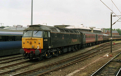 Just to prove it hadn't been an illusion, here's another look at 47355 stabled at Norwich with the stock off the previous day's NENTA charter (06/06/2004)
