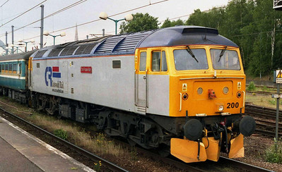 On the rear of the incoming set was sister Cotswold Rail machine 47200 'The Fosse Way', which then worked 1G58 1355 back to Yarmouth, the last of the additional trains from Norwich (06/06/2004)