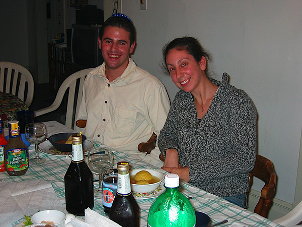 09 - Matt and Jen with their matzah ball soup.JPG