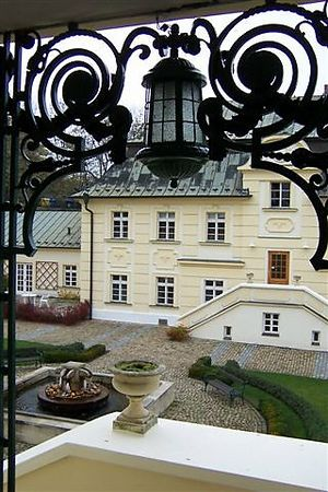 View of the courtyard at the International Baptist Theological Seminary, Prague.