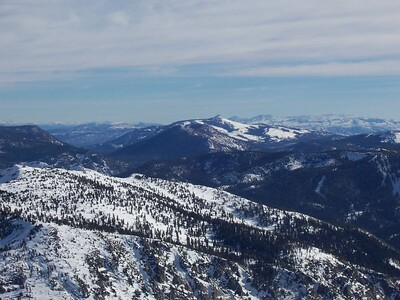 Ralston Peak and Sierra at Tahoe are in the foreground.  Not sure of the peak in the distance.