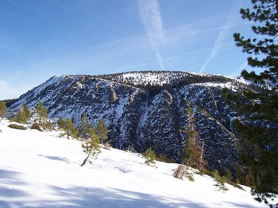 Ralston Peak's rugged west face.  The actual summit cannot be seen.