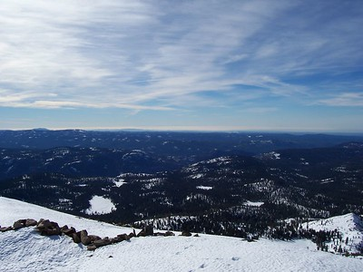 Looking west from the summit.